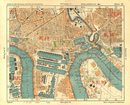 E LONDON Surrey Docks Isle of Dogs Canning Town Poplar Limehouse.BACON 1928 map